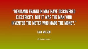 Benjamin Franklin Electricity Quotes