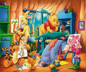 Pooh, Eeyore, Rabbit, Piglet, and Tigger!!!!