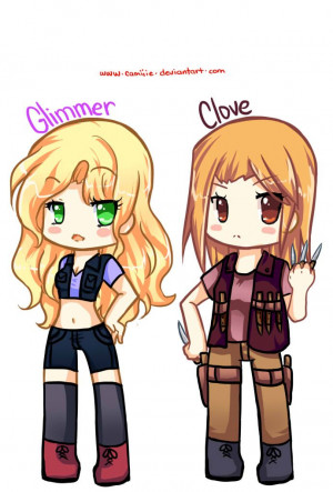 Hunger Games Glimmer and Clove Chibi: Catch Fire, Games Glimmer, Fan ...