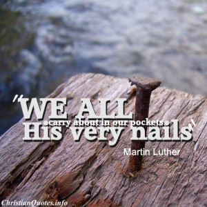 Martin Luther Christian Quote - Our Pockets