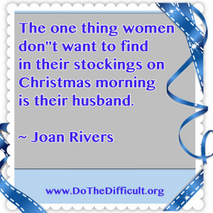 Funny Joan Rivers Christmas Quote