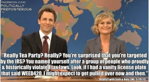 Saturday Night Live quote: Seth Meyers and Amy Poehler on the IRS ...