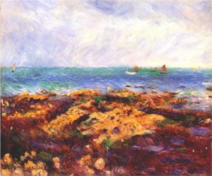 Low Tide at Yport - Pierre-Auguste Renoir