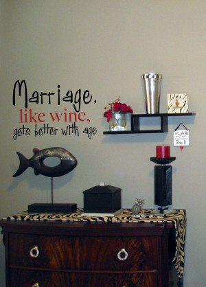 Marriage & Wine Vinyl Wall Quote by PurpleHeartz on Etsy, $20.00 ...