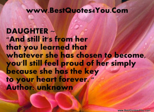... Feel Proud of Her Simply Because She Has The Key To Your Heart Forever