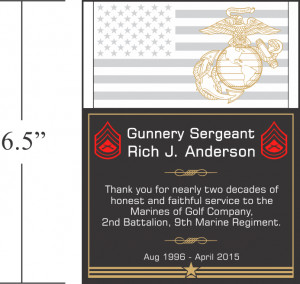 Unique Marine Corps Service Plaques Thank You Quotes Diy Awards