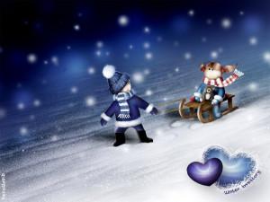 Papel de Parede Gratuito de Desenhos : História de Amor de Inverno