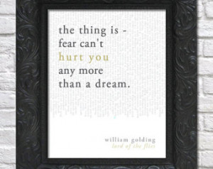 literary art print / book quote // lord of the flies; william golding