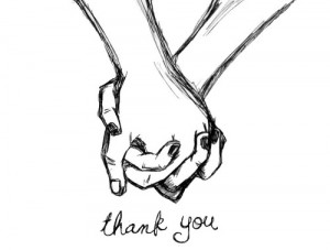drawing couple cute thank you holding hands