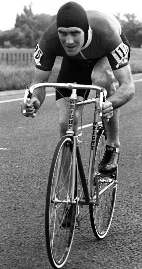 Jon French displaying the height of 1980s fashion and aerodynamics. A ...