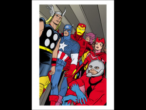 Statix #21 Group: Ant-Man Captain America Thor Iron Man Scarlet ...