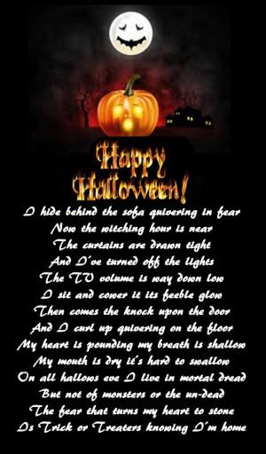 Scariest adult halloween poems