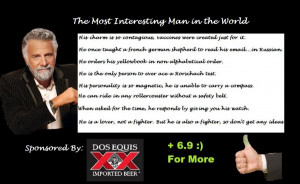 Dos Equis Poster World from the dos equis