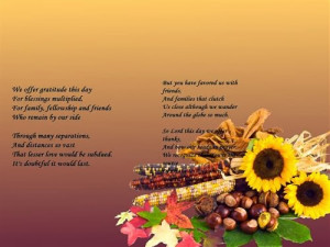 Meaning Thanksgiving Prayer