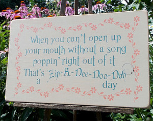 ... Can't Open Up Your Mouth Without A Song Distressed Wood Sign Disney