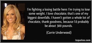 fighting a losing battle here: I'm trying to lose some weight. I ...