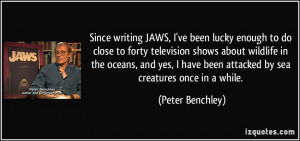 Since writing JAWS, I've been lucky enough to do close to forty ...