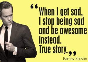 Pra você, otário, que não sabe quem é Barney Stinson, The Wingman ...