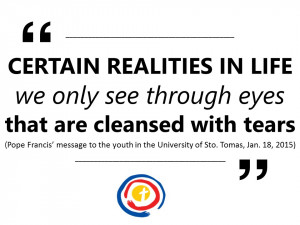 ... Pope Francis' message to the youth in the University of Sto. Tomas