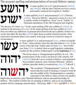 ... Hebrew, and originated from mistakes made by early Christian Hebraists