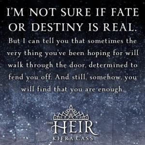 It's our destiny to read THE HEIR in 7 days!