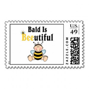Bumble Baby Bee Bald is Beautiful Postage
