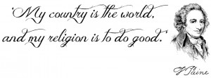 ... Thomas Paine – Turned my favorite quote into a simple FB cover