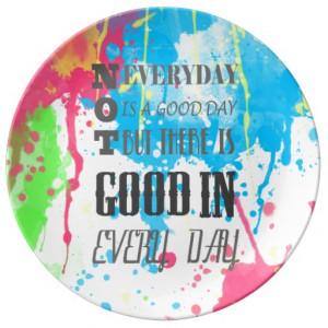 Cool quote colourful vibrant watercolours splatter porcelain plates