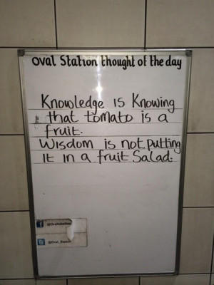 the message was posted on the wall of oval tube