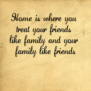 ... > Family & Friends > Family > Family Like Friends Home | Wall Decals