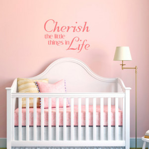 ... Art Wall Stickers Vinyl Lettering - Cherish the Little Things in Life
