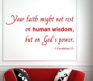 Corinthians 2:5 Your faith..Christian Wall Decal Quotes
