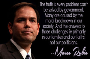 The truth is every problem can't be solved by government. Many are ...