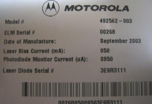 Details over Motorola Cable TV Fiber Optic Transmitter -RF to Light!