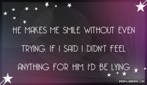 he makes me smile love quotes graphic
