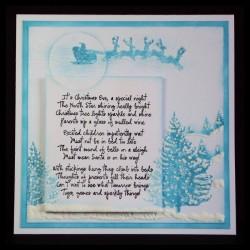visible image christmas stamps christmas eve poem sleigh trees PB