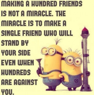 Best 30 Minions Best Friend Quotes #Funny #Friendship