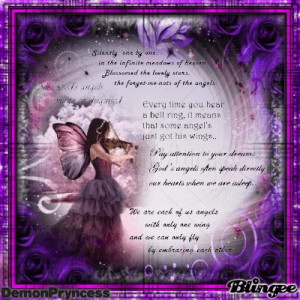 ... using all the angel quotes that I won with and came with - Angel Quote