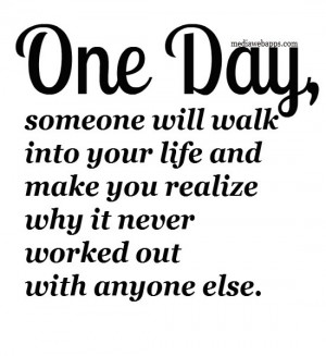 hope one day you will realize