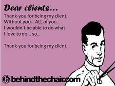 thank you for being my client nail salon hairstylist ecards client ...