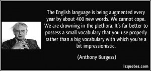 The English language is being augmented every year by about 400 new ...