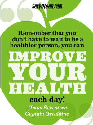 ... Get Inspired For a Healthier You! - Fitspiration Quotes - Seventeen