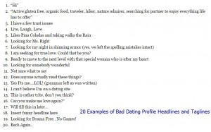 Dating Profile Examples For Women women dating profile examples ...