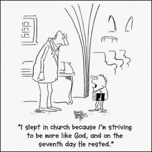 Did you know the Bible encourages sleeping in church?