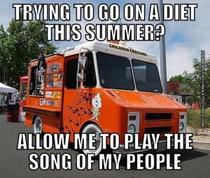 funny picture ice cream truck diet