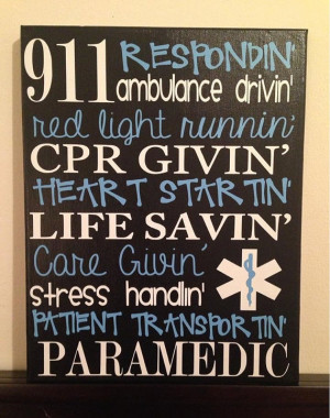 ... 14 Personalized Subway Art. Sayings for EMT/Paramedic. Wall Decor