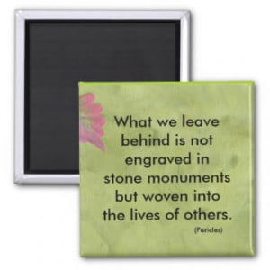 What we leave behind magnets