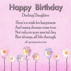 GOT TO BE THE BEST COLLECTION OF - BIRTHDAY WISHES For Your DAUGHTERS ...