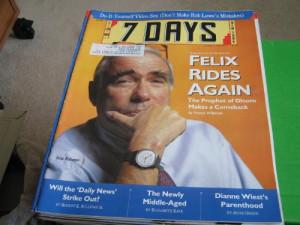 Days Magazine New York (Felix Rohatyn , Video Sex , NY Daily News ...