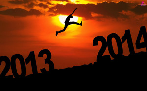 Happy New Year 2014 Wishes Quotes with Greetings Wallpapers